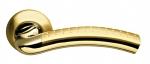 Ручка дверная Libra LD26-1SG/GP-4 матовое золото/золото
